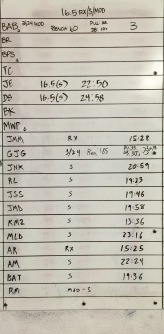 CROSSFIT 323 WOD RESULTS - 3/25 PART 2